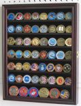 Medal, Coin or Casino Chip Display Case in Mahogany